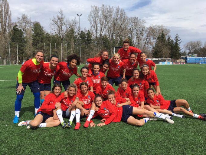 La Nazionale Italiana di calcio femminile si prepara in vista di Italia-Belgio